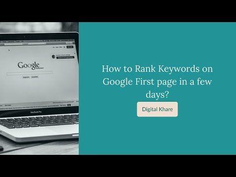 So platzieren Sie ein Keyword mit niedriger Konkurrenz auf der ersten Seite von Google in wenigen Tagen. – YouTub …