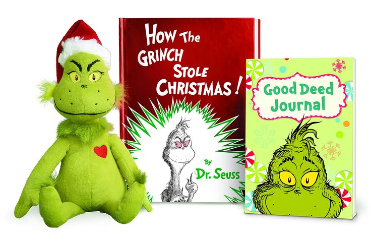 how the grinch stole christmas book and plush toy gift set