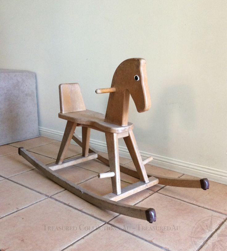 Vintage Childu0027s / Toddler Wooden Rocking Horse Awesome Design