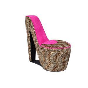 Animal Print High Heel Shoe Chair