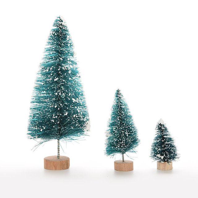 1 Шт. 3 Размер Рождественская Елка Небольшой Сосна Размещены На Рабочем Столе Мини Рождественские Украшения Для Дома Рождество