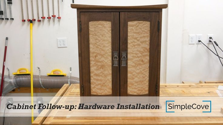 Wall Hanging Cabinet Follow-up: Hardware Installation - SimpleCove on YouTube