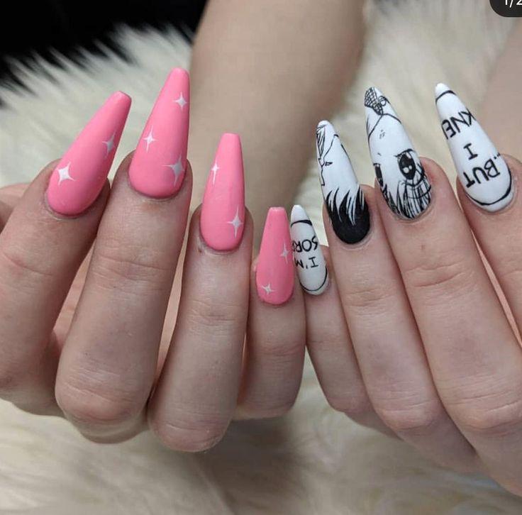 Anime nails in 2020 anime nails dream nails kawaii nails