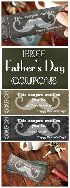 Father's Day Coupons - Free printables from redflycreations.com