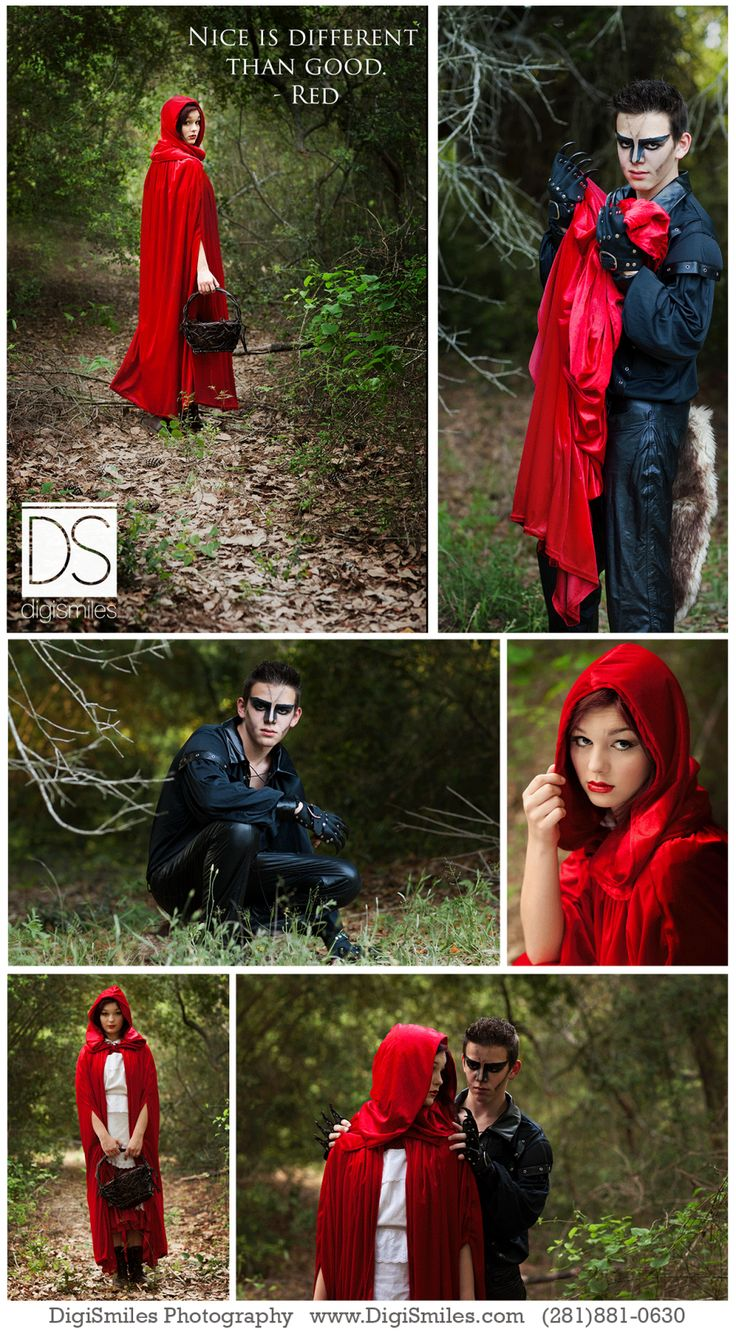 Into the woods photo session, Red Riding Hood and Bad wolf concept photo session ... #Inspiration
