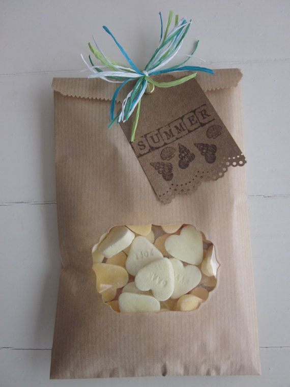 Kraft paper bag with a decorative window set of 20 old fashioned grocery (natronkraft) bags---Party favors, birthday party or wedding favor