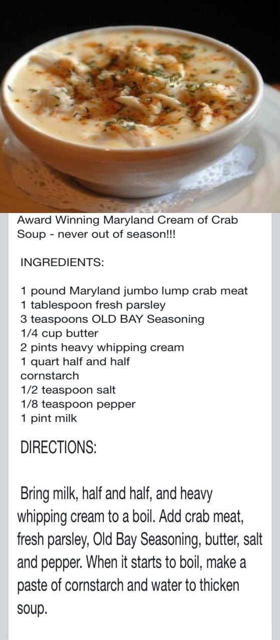 Maryland Cream of Crab Soup (to die for)❤❤❤❤❤