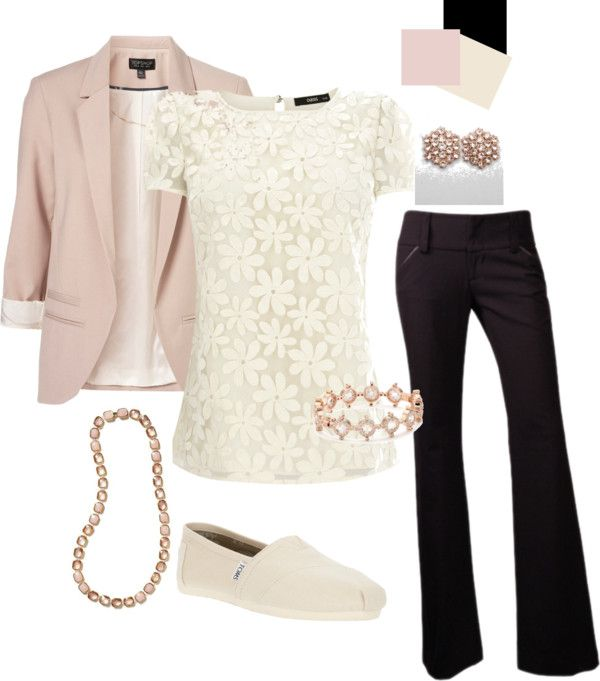 Blush and Ivory Teacher! Love everything about this. :): Fashion, Teacher Clothes, Style, Lace Top, Ivory Teacher, Work Outfits, Blush, Teacher Outfits