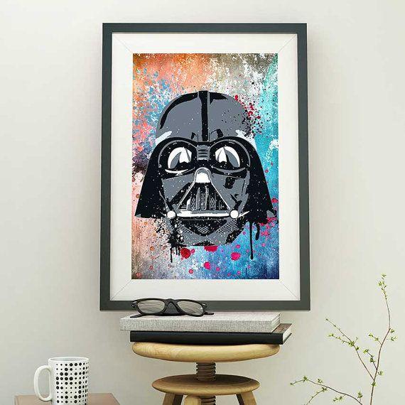 Darth Vader Helmet Art Star Wars Print Darth Vader Mask