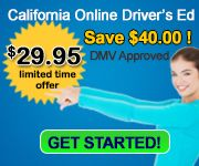 Our California Online Driver Education course is on sale through our affiliate Safest 1 Driving college. $29.95