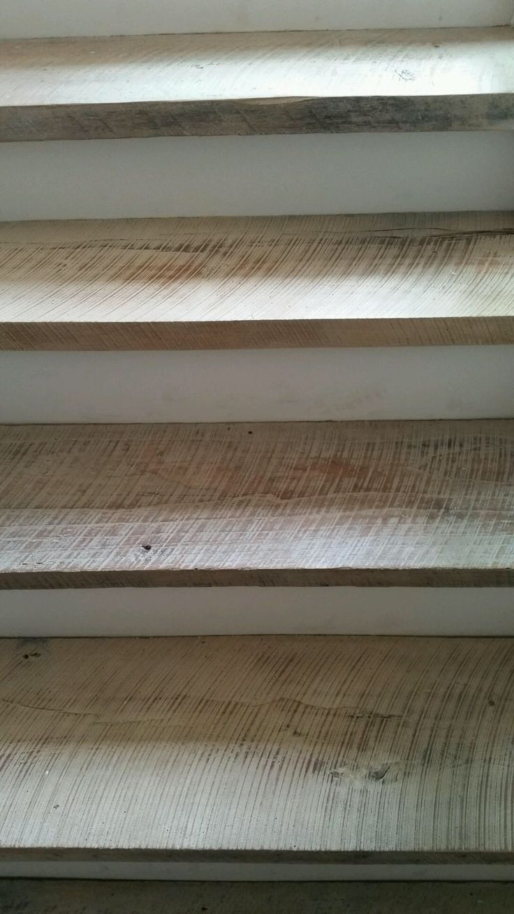 Reclaimed wood stair treads, 100% dirty top with white oil, by Good Wood - 29 Best Images About Reclaimed Wood Floors On Pinterest Pine