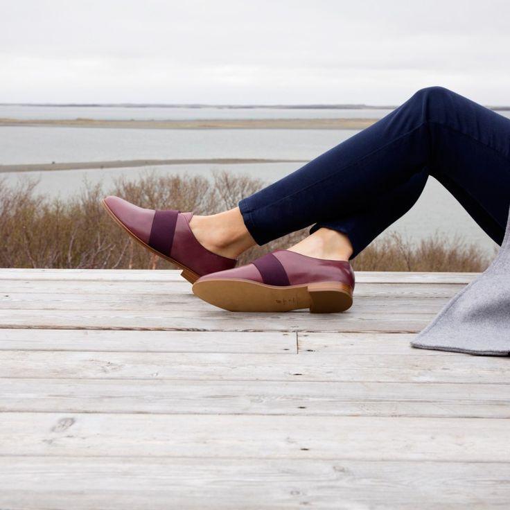 Derbies & Oxford Shoes couleur bordeaux Bobbies La Singulière