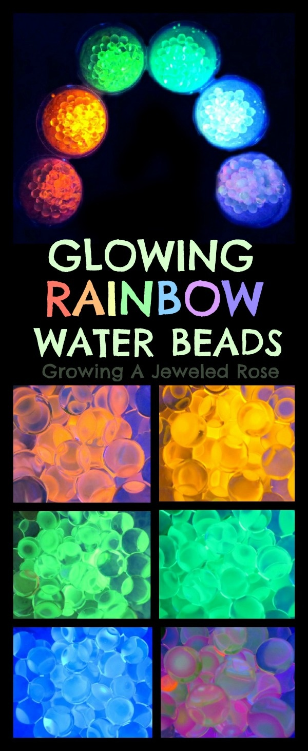 Glowing Rainbow Water Beads- easy to make- ULTIMATE water bead FUN!