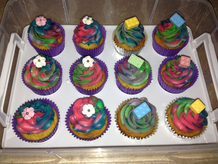 Rainbow Swirl Cupcakes.