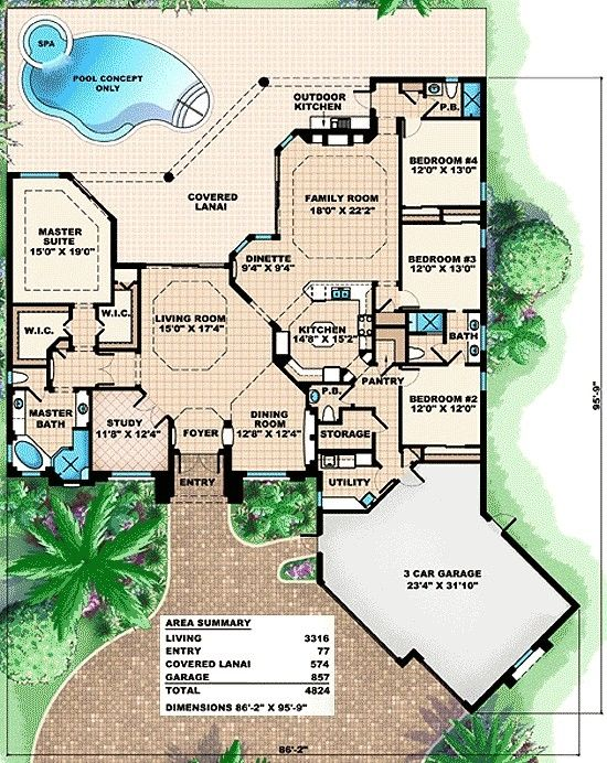 I would combine bedroom 3 & 4 into 1 bedroom and make bedroom 2 into a guest sweet.