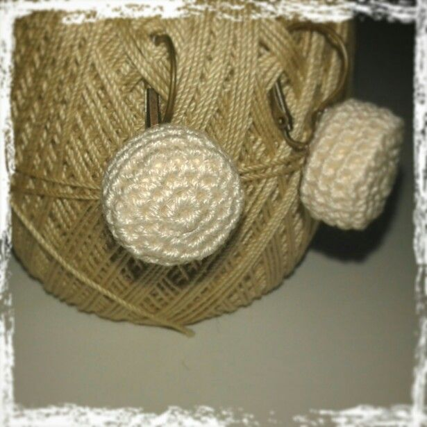 Crochet earrings, Handmade with love