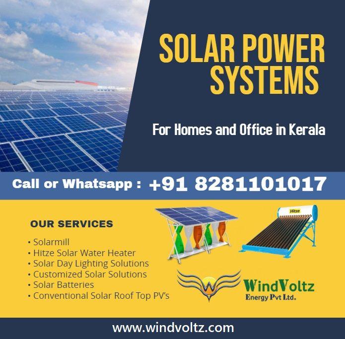 Windvoltz No 1 Solar Company In India Providing Solar Power Systems For Home Or Office Solar Power System Solar Power Solar