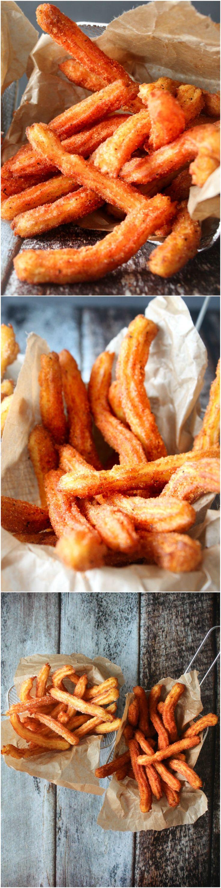 Homemade Churros Potato Fries - Homemade Fries - Homemade Churros - Savory Churros - Spicy Churros - Snack - Homemade Snacks