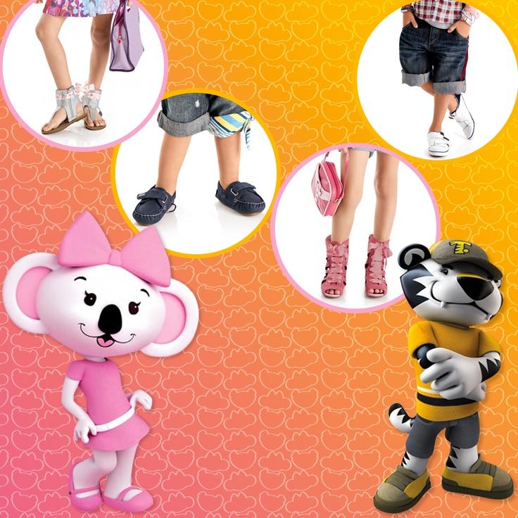 Um dos personagens mais queridos das mamães e seus pequenos, ♥ Lilica Ripilica e Tigor T Tigre ♥ estão estampando sapatinhos, sandálias, bolsas e mochilas em uma coleção super especial: www.Dinda.com.br