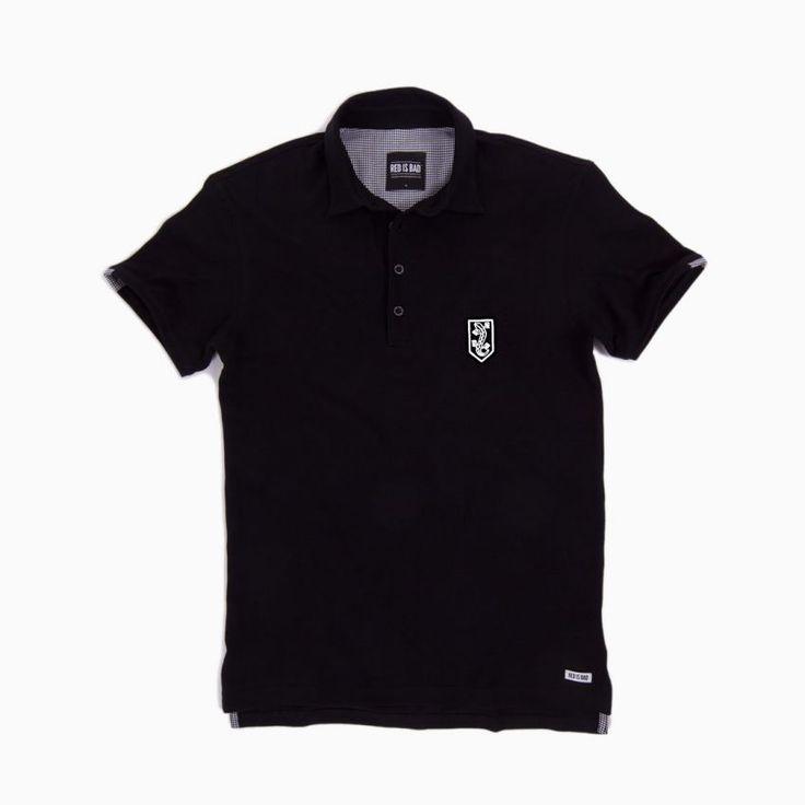 Koszulka polo z haftem NSZ - czarna