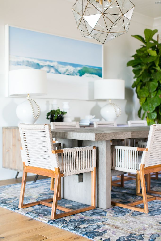 a coastal dining room designed by becki owens - Coastal Interior Design Ideas