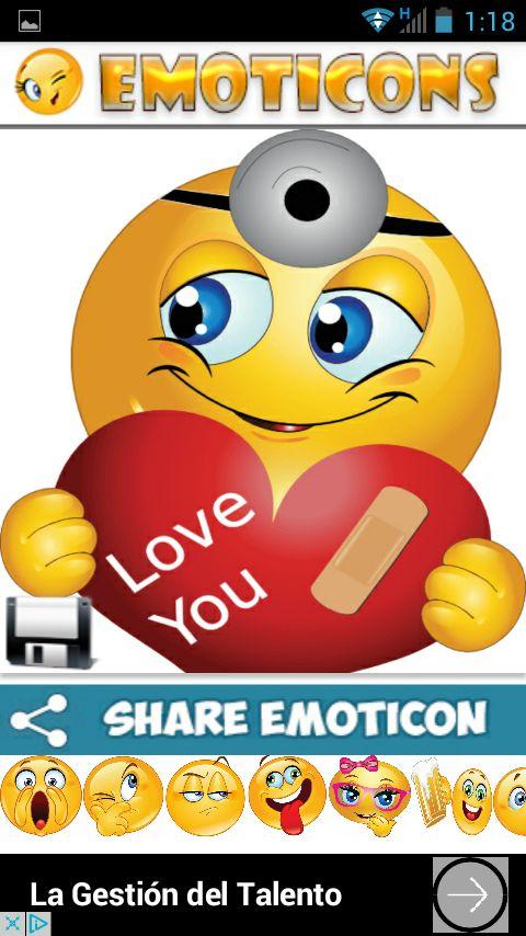 Emoticones para whatsapp: captura de pantalla