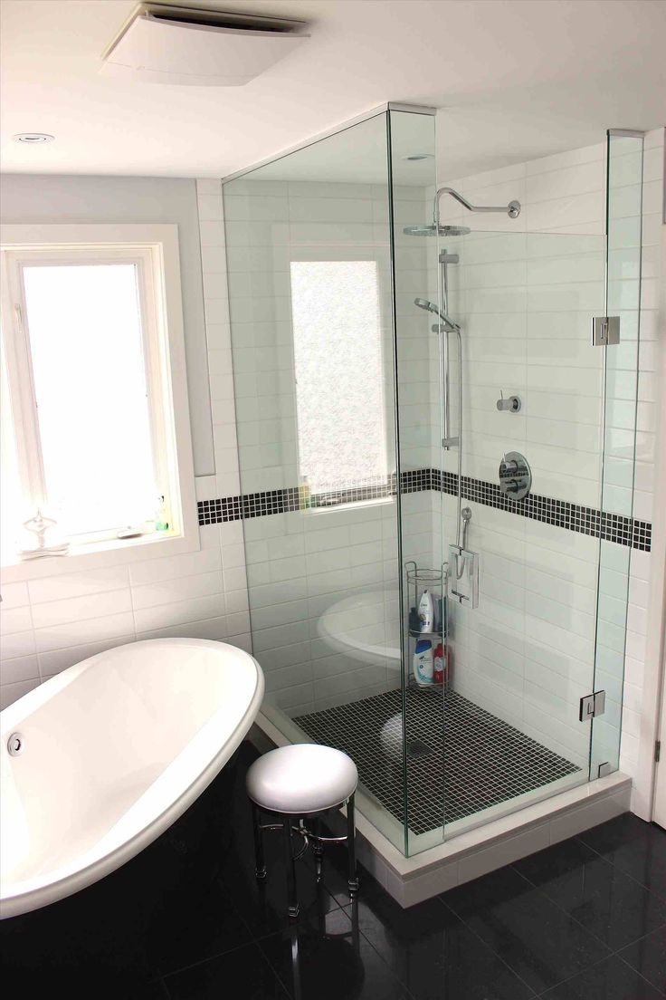 Small Master Bathroom With Separate Tub And Shower Stand