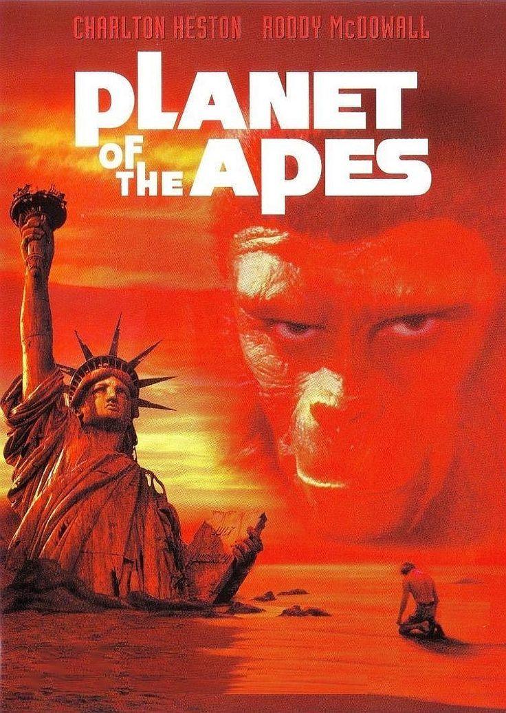 Charlton Heston, Roddy McDowall, Kim Hunter. Director:  Franklin J. Schaffner. IMDB: 8.0 ____________________________ https://en.wikipedia.org/wiki/Planet_of_the_Apes_%281968_film%29 https://www.rottentomatoes.com/m/1016397-planet_of_the_apes/ http://www.tcm.com/tcmdb/title/18648/Planet-of-the-Apes/ Article: http://www.tcm.com/tcmdb/title/18648/Planet-of-the-Apes/articles.html http://www.rogerebert.com/reviews/planet-of-the-apes-1968 http://www.allmovie.com/movie/planet-of-the-apes-v38295