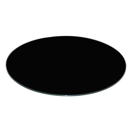 Fab Glass and Mirror Black Back Painted Round 0.37 in. Thick Flat Edge Tempered Glass Table Top