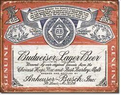 Budweiser - Tin Sign
