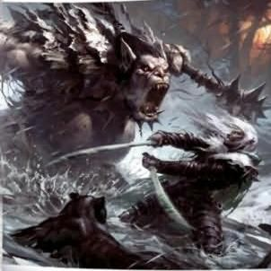 Awesome painting of Drizzt Do'Urden. Cover of the Legend of Drizzt Anthology.