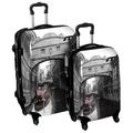 International Traveller 'Venice Bridge' 2-piece Fashion Hardside Spinner Luggage Set | Overstock.com