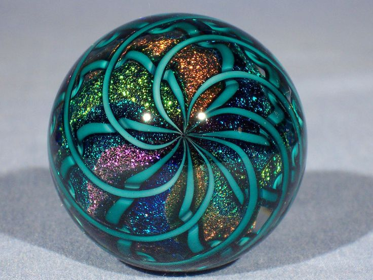 Marbles: Hand Made Art Glass James Alloway Dichroic Core Marble #1906 1.9inch #Contemporary