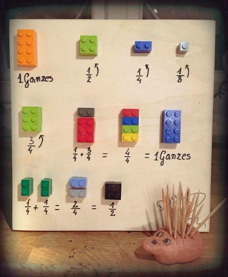 Bruchrechnen lernen mit Lego