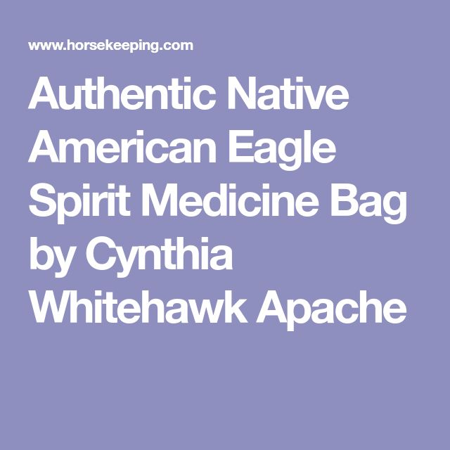 Authentic Native American Eagle Spirit Medicine Bag by Cynthia Whitehawk Apache