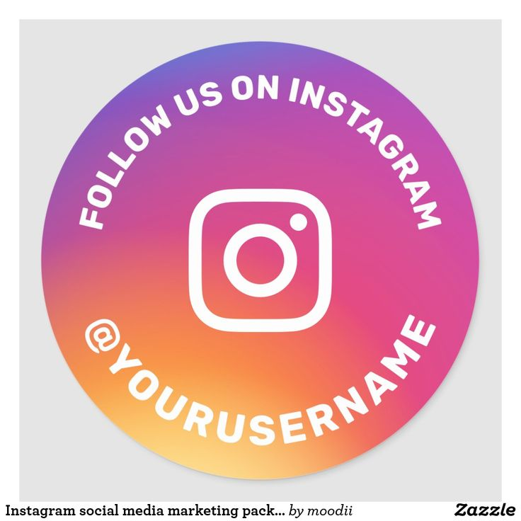 Instagram social media marketing packaging label zazzle