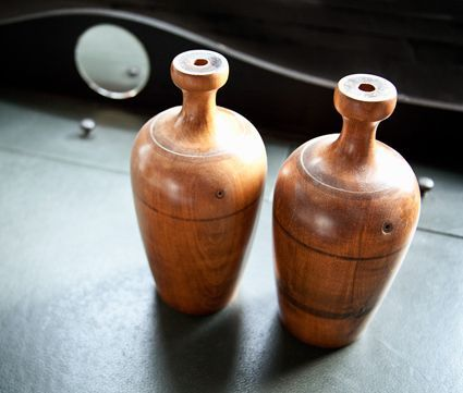 Wooden Urn Lamp Bases | Maxine Snider Inc.  interior design, antique, vintage, sculpture, table top, display, accessories, furniture