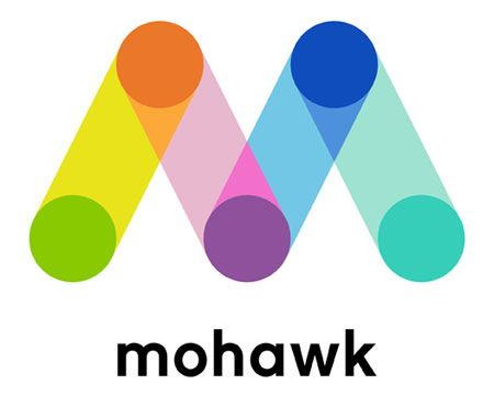 new mohawk logo by michael bierut & pentagram