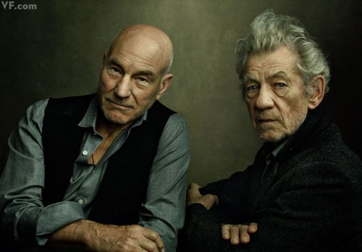 Patrick Stewart and Ian McKellen. Photographed by Annie Leibovitz. - She is such an amazing photographer!