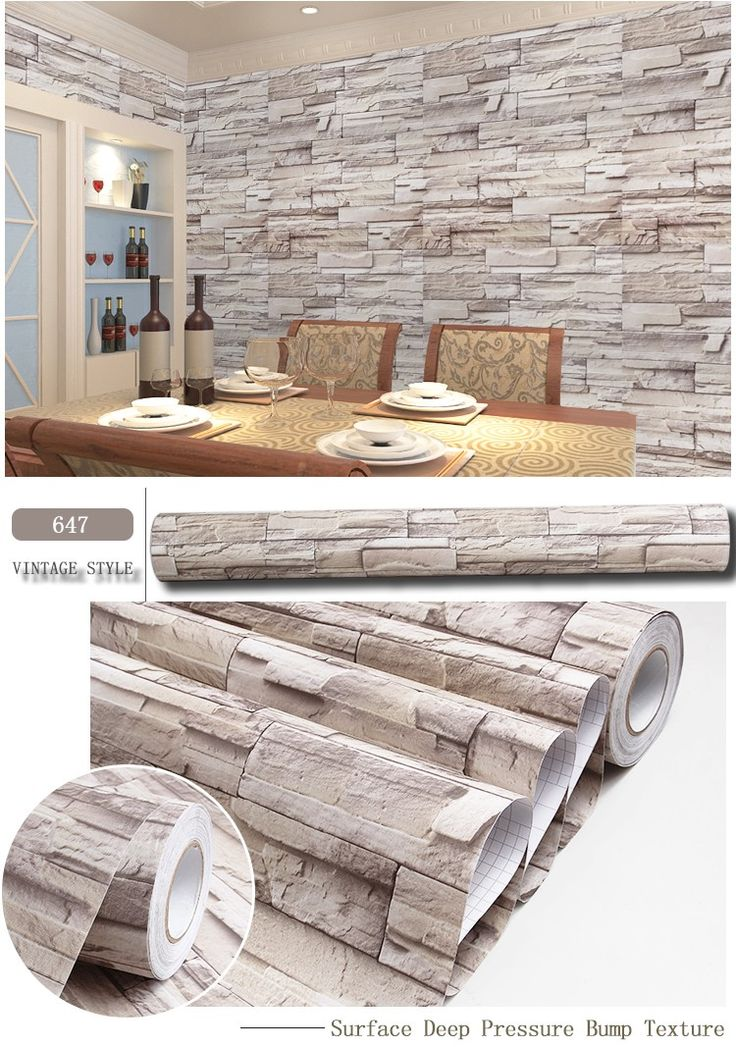 3d brick wallpaper for home decoration