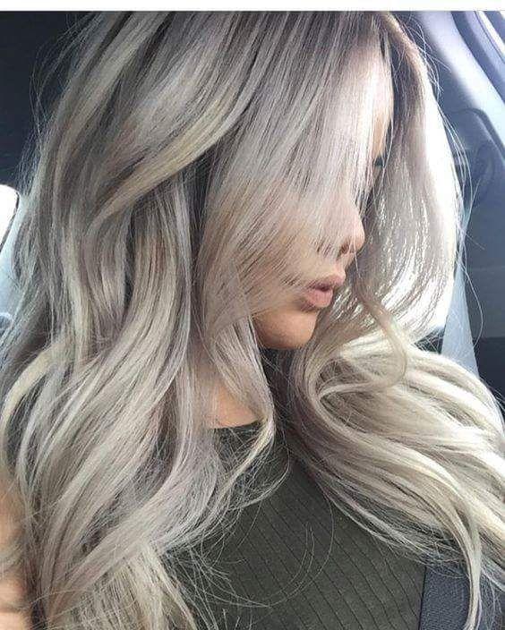 Best Smokey Light Ash Blonde Locks #Blondehair #haircolor #haircolorideas