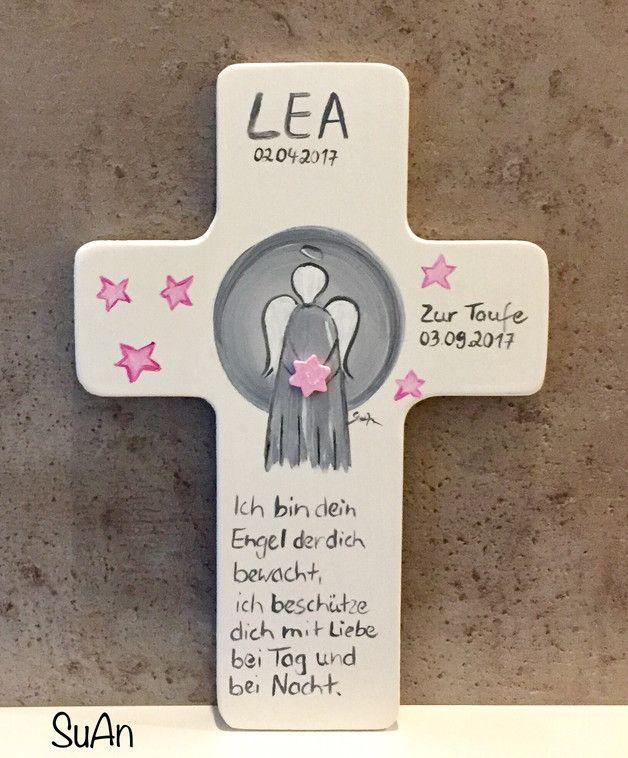 Dieses liebevoll bemalte Holzkreuz eignet sich sehr gut als Geschenk zur Taufe, Geburt, Einschulung, Kommunion,Firmung,Konfirmation,Kindergeburtstag oder einfach um jemanden eine Freude zu...