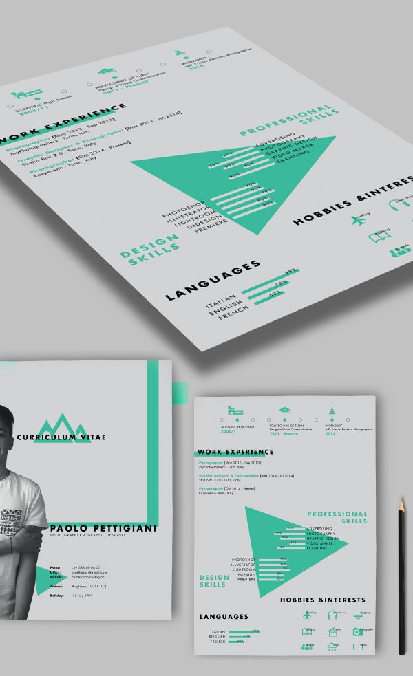 Best Resumer Images On Pinterest Cv Design Resume Templates - Resumer