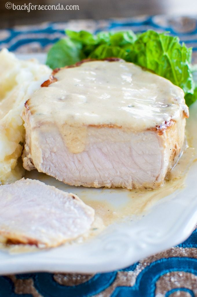 BEST Pork Chops and Creamy Pan Gravy - Everyone LOVES this meal!