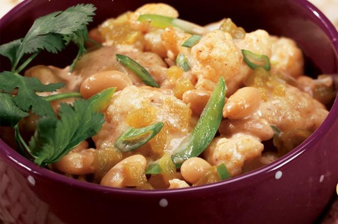 CHEESY WHITE CHILI WITH CAULIFLOWER   Good Food   Pinterest