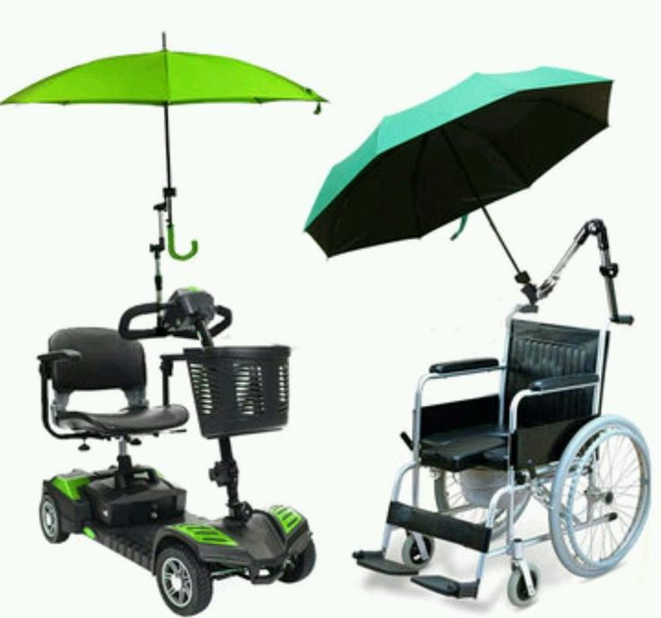 Umbrella Stand Connector Holder Pipe Bar Attach Clamp Wheelchair Scooter Bikes