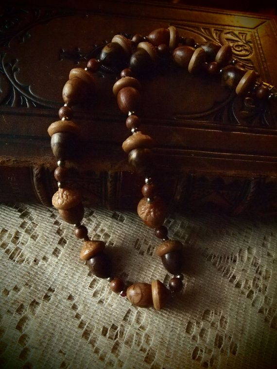 Vintage acorn necklace by faeriecologyshop on Etsy, $30.00