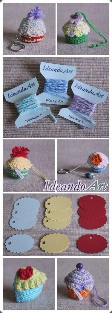 Productos IdeandoArt en el sorteo de nuestro primer cumpleblog!! Puedes comprar los cupcakes de crochet aquí: http://es.dawanda.com/shop/ideandoart