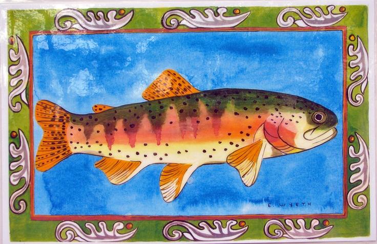 Ellie Wyeth, Place Mat - Green Fish