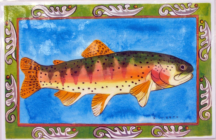 Ellie Wyeth, Place Mat - Green Fish